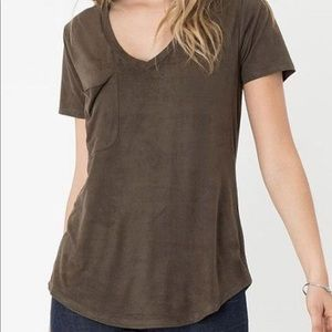 Z Supply faux suede t shirt